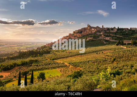 Italia, Umbria, distrito de Perugia, Trevi. Imagen De Stock