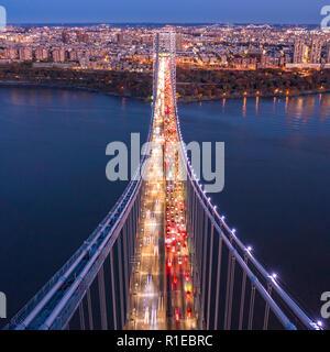 Vista aérea del Puente George Washington Imagen De Stock
