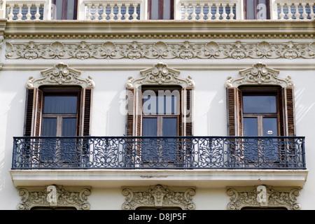 Arquitectura, fachadas históricas, Valencia, España Imagen De Stock