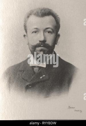 Retrato fotográfico de Lavedan Colección de Félix Potin, de principios del siglo XX. Imagen De Stock