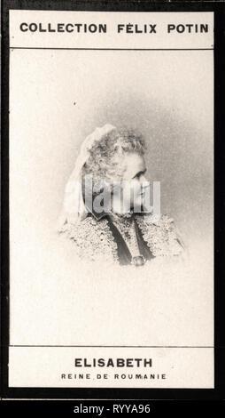 Retrato fotográfico de Elisabeth Reine de Rumanía desde la colección Félix Potin, de principios del siglo XX. Imagen De Stock