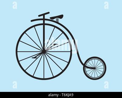Vintage clásico Penny Farthing vector de bicicletas Imagen De Stock