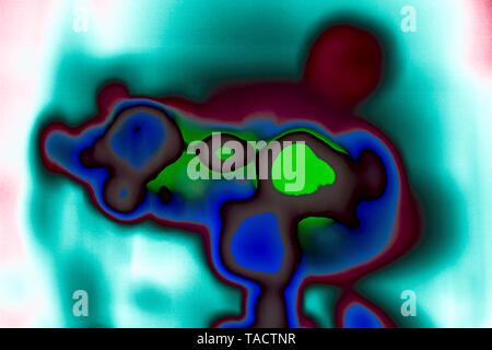 Arte moderno abstracto Fotografía Creativa de concentración cámara de película india 22/5/2007. Imagen De Stock