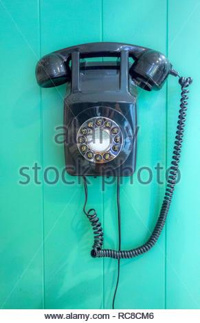 Still life de vintage teléfono de pared Imagen De Stock