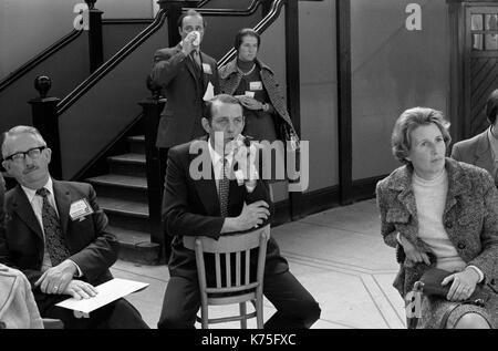 Conferencia del Partido Conservador Fringe Meeting Conference Hall, Blackpool jardines de invierno 1973 UK 1970 Inglaterra HOMER SYKES Imagen De Stock