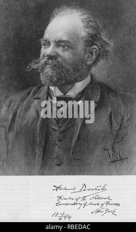 ANTONÍN DVORÁK (1841-1904) compositor checo mientras que el Director del Conservatorio Nacional de Música en Nueva York Imagen De Stock