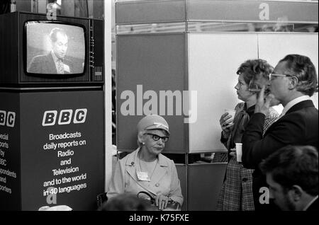Conferencia del Partido Conservador Blackpool jardines de invierno 1973 UK 1970 Inglaterra HOMER SYKES Imagen De Stock