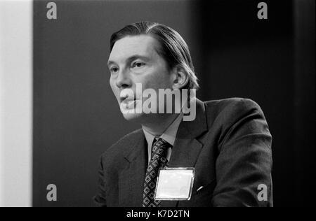 Paul Channon, retrato Conferencia del Partido Conservador Blackpool jardines de invierno 1973 1970 UK HOMER SYKES Imagen De Stock