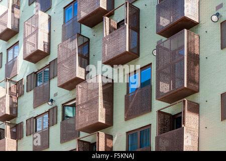 Arquitectura moderna, Westerdok, Ámsterdam, Países Bajos. Imagen De Stock