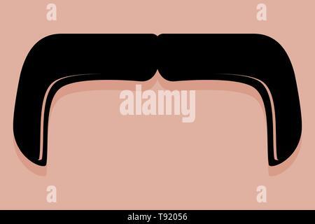 Bigote icono en el manillar estilo vectorial Imagen De Stock