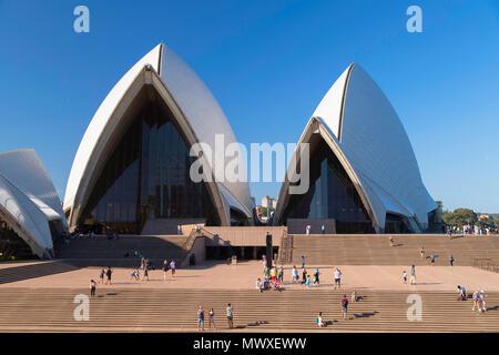 Sydney Opera House, Sitio del Patrimonio Mundial de la UNESCO, Sydney, New South Wales, Australia, el Pacífico Imagen De Stock