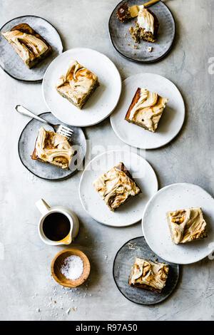 Banana torta de caramelo Imagen De Stock