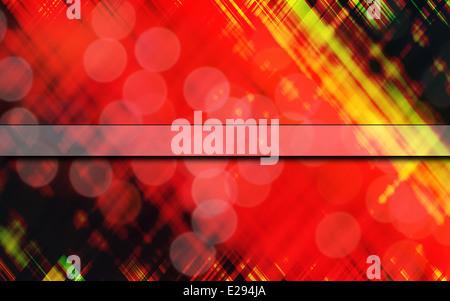 Una imagen de fondo abstracto con un patrón como de tartán y centrado de bloque de texto en blanco, con Imagen De Stock
