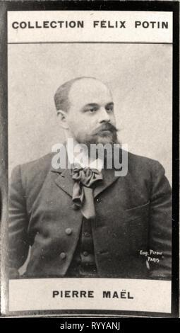 Retrato fotográfico de mal desde la colección Félix Potin, de principios del siglo XX. Imagen De Stock