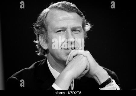 Peter Walker MP retrato, 1970 Conferencia del Partido Conservador Blackpool jardines de invierno 1973 UK HOMER SYKES Imagen De Stock