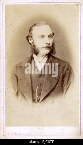 Albert Whitehead- fotografiado en Estambul (Constantinopla) por el famoso fotógrafo Pablo Sebah en 1870. Imagen De Stock
