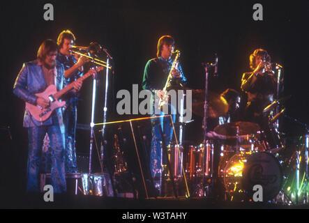 El grupo de rock estadounidense de Chicago sobre 1975. Foto: Jeffrey Mayer Imagen De Stock