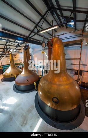 Stills dentro todavía Room en la Destilería Bowmore en la isla de Islay en Inner Hebrides de Escocia, Reino Unido Imagen De Stock