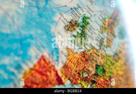 Fotografía del Reino Unido Reino Unido maps mundo atlas de viaje Imagen De Stock