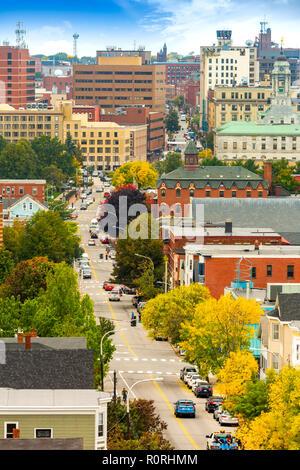 Vista aérea del centro de Portland, Maine Imagen De Stock