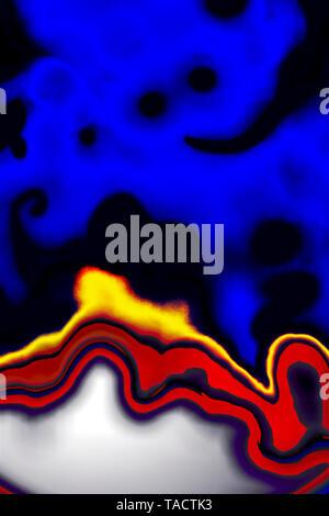 Fotografía de arte moderno abstracto generación creativa de concentración origen India 23/3/2007. Imagen De Stock