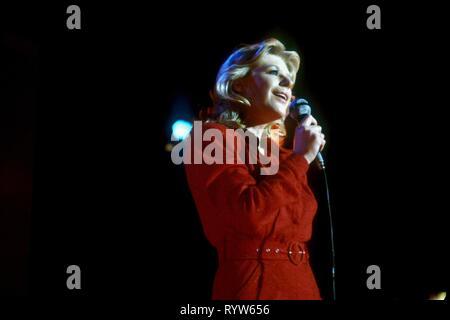 Marianne fiel en concierto Hamburgo 1980. Imagen De Stock