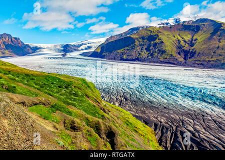 Skaftafell enorme glaciar en Islandia Imagen De Stock