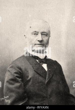Retrato fotográfico de Barboux Colección de Félix Potin, de principios del siglo XX. Imagen De Stock