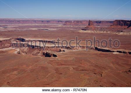 Murphy senderos en el Parque Nacional Canyonlands , paisaje, vista elevada, Moab, Utah, EE.UU. Imagen De Stock