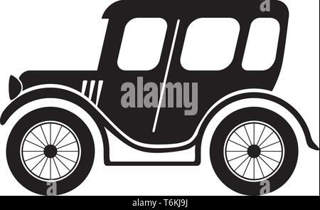 Estilo vintage clásico coche o automóvil en vector Imagen De Stock
