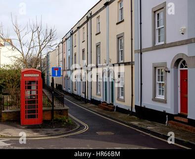 Atractiva casa adosada arquitectura en la calle conocida como de Kingsdown desfile en Kingsdown, Bristol City Centre Imagen De Stock