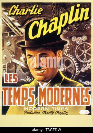 Los tiempos modernos Año: 1936 EE.UU. Charlie Chaplin affiche, póster Director: Charles Chaplin Imagen De Stock