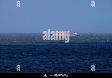 Buque de carga en el mar del Norte seascape Imagen De Stock