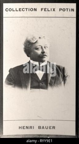 Retrato fotográfico de colección Baur de Félix Potin, de principios del siglo XX. Imagen De Stock