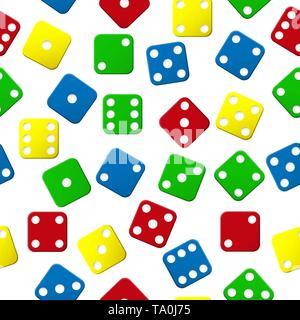 Colorido patrón sin fisuras con coloridos cubos. Diseño de fondos, fondos de pantalla, tapas, envases y material. Imagen De Stock