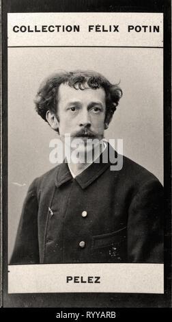 Retrato fotográfico de Pelez Colección de Félix Potin, de principios del siglo XX. Imagen De Stock