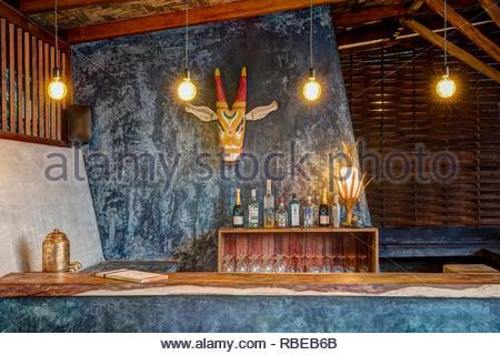 Bar. Jalakara Villa Hotel, Islas Andamán y Nicoar, India. Arquitecto: Ajith Andagere, 2016. Imagen De Stock