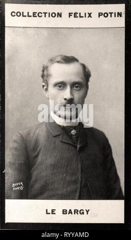 Retrato fotográfico de Le Bargy desde la colección Félix Potin, de principios del siglo XX. Imagen De Stock
