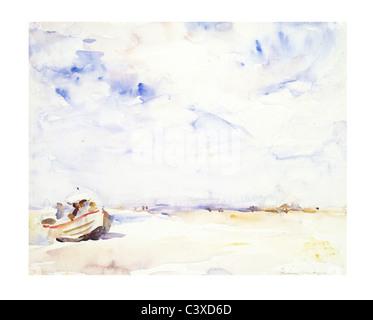 Shore, escena por William Frederick Alcalde. Inglaterra, del siglo XIX. Imagen De Stock
