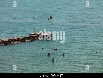 Lido di Venezia jetty, región del Veneto, Venecia, Italia Imagen De Stock