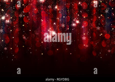 Abstract christmas background twinkled rojo Imagen De Stock