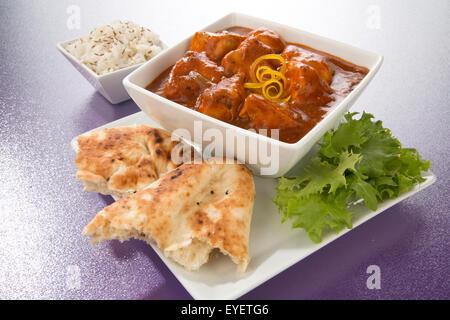Pollo tikka masala curry indio Imagen De Stock