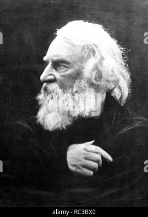 HENRY LONGFELLOW (1807-1882), poeta norteamericano fotografiado por Julia Cameron en 1868 Imagen De Stock