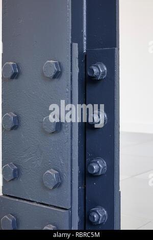 Detalle de vigas de acero. 8 Bloomsbury, Londres, Reino Unido. Arquitecto: Buckley gris Yeoman, 2017. Imagen De Stock
