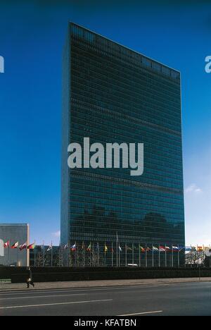 Los Estados Unidos de América en Nueva York New York Manhattan sede ONU Imagen De Stock