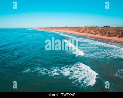 Vista aérea de Barwon jefes, península Bellarine, Victoria, Australia Imagen De Stock
