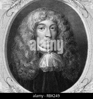 CHARLES COTTON (1630-1687), poeta inglés y traductor Imagen De Stock