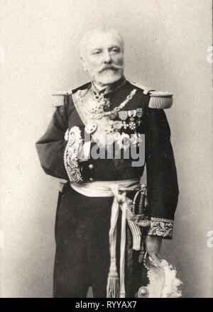 Retrato fotográfico de Aube desde la colección Félix Potin, de principios del siglo XX. Imagen De Stock