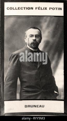 Retrato fotográfico de Bruneau desde la colección Félix Potin, de principios del siglo XX. Imagen De Stock