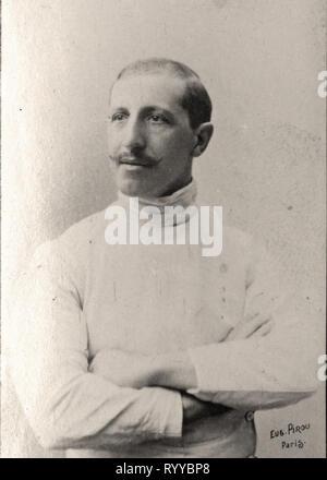 Retrato fotográfico de Pini desde la colección Félix Potin, de principios del siglo XX. Imagen De Stock